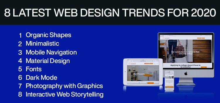 8 latest Web Design Trends for 2020