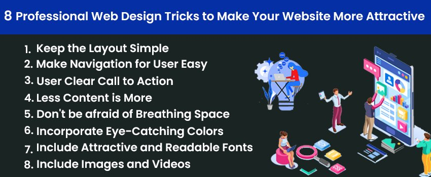 8 Professional Web Design Tricks to Make Your Website More Attractive